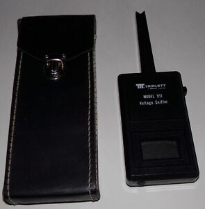 Vintage Triplett Model 911 Voltage Sniffer With Original Leather Case Works RARE