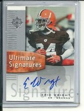 ERIC WRIGHT RC AUTO 2007 UD ULTIMATE COLLECTION AUTOGRAPH
