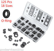 New 18 Sizes 125 Pcs O-Ring Car Rubber Grommet Firewall Wiring Cable Gasket Kits