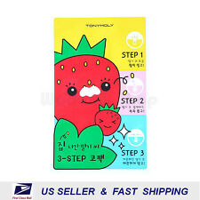 [ TONYMOLY ] Runaway Strawberry Seeds 3 Step Nose Pack 6g (QTY - Choose Option)