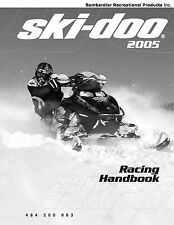 Ski-Doo service shop manual 2005 Racing Handbook