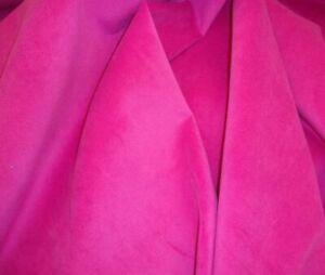 Hot Pink Velvet  Upholstery Upholstery Micro Plush Solid Drapery Fabric