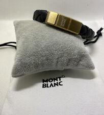 Leather Bracelet Montblanc Meisterstuck Black