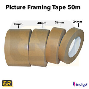 Picture Framing Brown Self Adhesive Backing Tape Canvas Craft Kraft 24,36,48,75