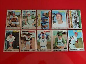 1970 Topps Baseball HI# High Number Lot (10) diff Cards VG-EX RC Senators