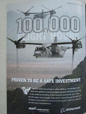 6/2011 PUB BELL HELICOPTERS BOEING V-22 OSPREY 100.000 FLIGHT HOURS ORIGINAL AD