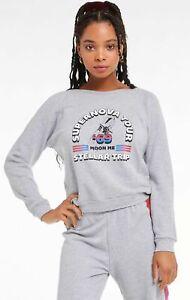 Wildfox Couture Supernova Tour Fiona Crew Heather Gray Sweater Size XS