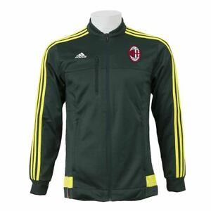 Adidas AC Milan Hymne Jacke Grün/Gelb Herren Fußball Trainingsanzug Oberteil