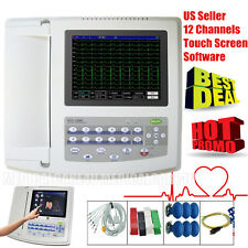 US Seller,3/6/12 Leads ECG 12 Channel Color Touch EKG electrocardiograph Printer