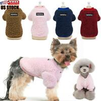 US Chihuahua Yorkie Small Dogs Pet Fleece Clothes Coat Jacket Sweater Soft Warm