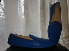 BOTTEGA VENETA INTRECCIATO Carla Blue Suede BALLERINA FLATS SHOE EU38 UK5 US8