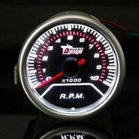 2'' 52MM UNIVERSAL AUTO ROSSO LED 10000RPM TACHIMETRO CONTAGIRI STRUMENTO   /