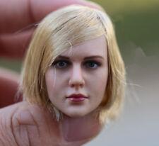 """KIMI TOYS 1:6 Short Hair Girl Head For 12"""" Female Seamless Body Model KT009"""