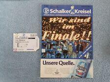 1997 - UEFA CUP FINAL 1ST LEG PROGRAMME + TICKET - SCHALKE v INTER MILAN