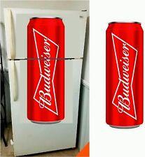 Budweiser Beer fathead wall garage sticker 4' dorm room man cave refrigerator