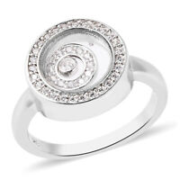 Statement Ring Sterling Silver Cubic Zirconia CZ for Women Gift Size 8 Ct 4.6