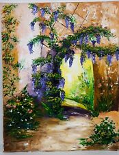 Haugeard - Porche fleuri. Artiste Française.
