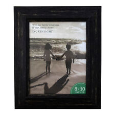 "Northlight 13"" Distressed Finish Rectangular 8"" x 10"" Photo Picture Frame -Black"