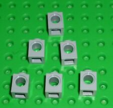 LEGO - TECHNIC - LIGHT BLUISH GREY - BRICK, 1 x 1 with Hole x 6 (6541) TK50