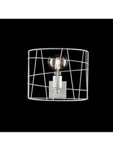 Wall Lamp Applique Modern Industrial Vintage White 1 Light bon-253