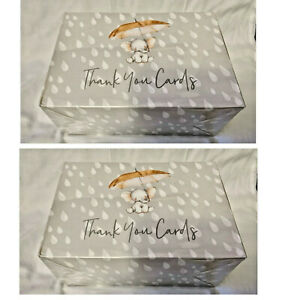 NEW SEALED 2 Boxes Nora's Nursery 80 Baby Shower Thank You Cards & Envelopes