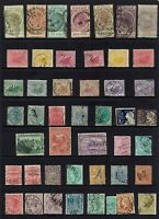 AUSTRALIA PRE-DECIMAL ,STATE STAMPS COLLECTION MIXED STATES...ABOUT 46 STAMPS