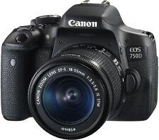 CANON EOS 750D DIGITAL SLR CAMERA 24MP w/ EF-S 18-55mm IS STM LENS CMOS SENSOR