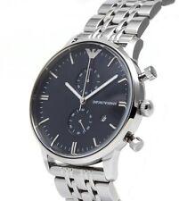 Brand new Emporio Armani Silver / Black Quartz Analog  Men's Watch AR0389