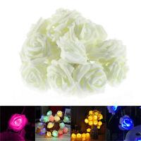 10/20/30 LED Rose Flower Xmas String Lights Wedding Christmas Party Garden Decor
