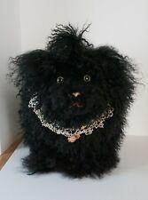 Artist Mohair Black Lhasa Apso Dog Long Hair Plush Poseable Life Size Large