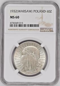 1932 Poland Silver Coin 10 Złotych Queen Jadwiga