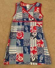 CWD Kids EUC 7-8  Red/white/blue patchwork dress July 4th/Beach