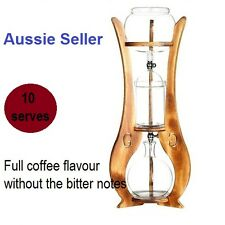 High Quality Dutch Double Knobs Oakwood Brew Coffee Ice Cold Drip Coffee Maker