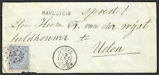Nederland 1872 NVPH 19C op briefomslag met puntstempel 43 GRAVE