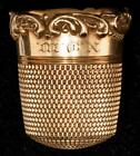 Antique 14kt Gold  Simons Brothers 14kt Thimble Size 11