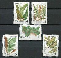 30509) RUSSIA 1987 MNH** Ferns Plants 5v. Scott#5572/76