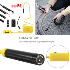 10M Wireless WIFI Endoscope Borescope Inspection Camera USB For iPhone & Android
