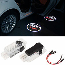 2 LED Logo Light Shadow Projector Car Door Courtesy Laser For Audi A4 A6 A8 Q5/7