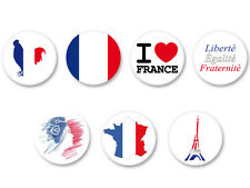 Lot Pack Badge Button Ø38mm Symbole France FR Francais Patriotique