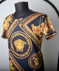 Men's Dress Shirt Versace Collection Jeans medusa Versus White Size Sz. XL