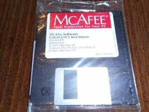 McAfee Software Emergency Boot Disk Version 4.0 SEALED UNOPENED