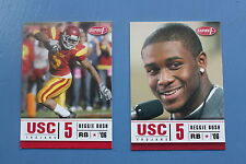 REGGIE BUSH Detroit Lions Saints 2006 ASPIRE HEISMAN RC ROOKIE 2 CARD LOT 1 & 33