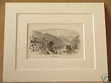 BORROWDALE ANTIQUE MOUNTED ENGRAVING c1890 10X8 V RARE