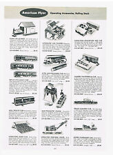 1954 AD AMERICAN FLYER ACCESSORIES ROLLING STOCK  HAND CAR AND SHED PULLMAN CARS