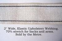 "2 Metres Elastic Webbing, for upholstery Backs. 2"" wide"