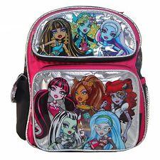 """Monster High 8 Chicas Mochila pequeña de 12"""" pulgadas-Plateado-Nuevo"""
