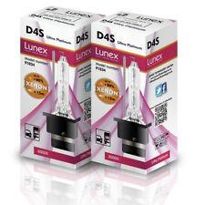 2 x D4S Genuine CAR LUNEX XENON BULBS REPLACEMENT FOR OSRAM GE OR PHILIPS 8000K