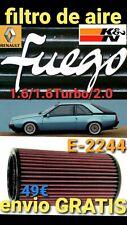 RENAULT FUEGO 1.6/1.6 TURBO/2000 filtro aire K&N E-2244