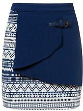 Regular Machine Washable Mini Geometric Skirts for Women