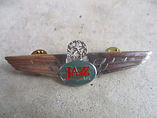 vintage 1990 Jazz Air Transport International Airlines Captain Pilot Wings Pin 2